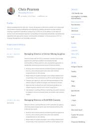 Director Sample Resume Managing Director Resume Writing Guide 12 Examples Pdf