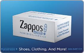 Buy Zappos.com Gift Cards | Receive up to 7.50% Cash Back