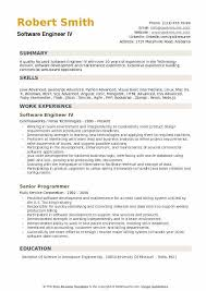Software Engineer Resume Unique Software Engineer Resume Samples QwikResume