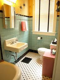 1940 Bathroom Design Mesmerizing Kristen And Paul's 48s Style Aqua And Black Tile Bathroom Built