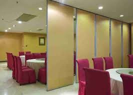 pair hinged sliding partition wall for