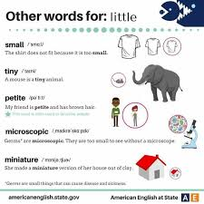 Small Picture Other Words For LITTLE Materials For Learning English