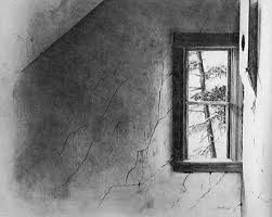window pencil drawing. \u0027winter window\u0027. 1964, pencil drawing window i