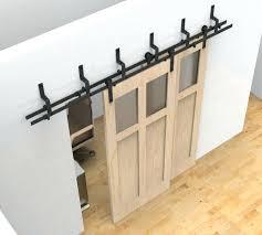 10 ft doors um size of barn door floor guide byp hardware double sliding doors ft