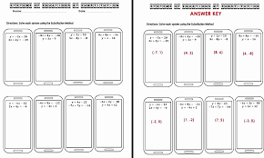 solving systems of equations by substitution worksheet elegant the math systems of equations substitution worksheet