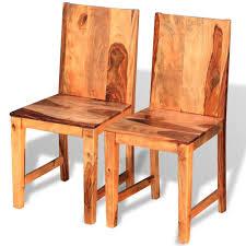 Vidaxl Esszimmerstühle 2 Stk Sheesham Holz