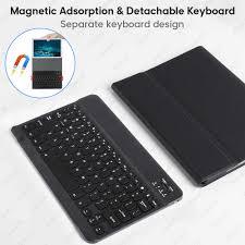 Bàn Phím Dành Cho Máy Tính Bảng Huawei MediaPad M5 Lite 10 T3 T5 PU Da Bàn  Phím Bluetooth Ốp Lưng Cho Huawei Matepad Pro 10.8 m5 M6 Pro