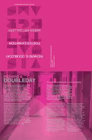 Visual Telegrams Richard B Doubleday Exhibition Poster On