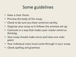 essay questions personal essays are words each ppt preview the body of the essay