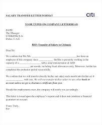 Employee Letter Format Bank Bank Employee Transfer Letter Format
