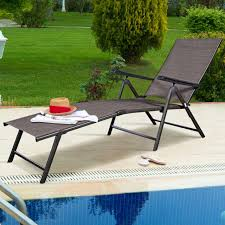 adjule pool chaise lounge chair recliner textilene outdoor patio furniture