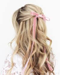 Bows In Hair Style long curls with a pink bow girly things pinterest long curls 3854 by wearticles.com