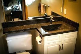 1 piece bathroom sink countertop one and