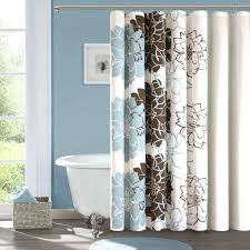 tiffany blue shower curtain brown and bathroom accessories light wall black