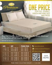 queen size bed price. Simple Size Valentine Specials One Price For Full Double King U0026 Queen Size Purifoam  Mattress Inside Bed B