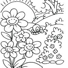 coloring free spring coloring pages preschool photos of amusing printable for print flowers