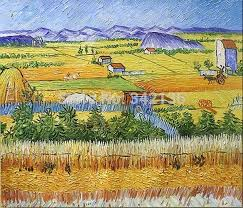 farm busy season pictures by van gogh oil painting reion decorative artwork for business partner gift no frame in painting calligraphy from home