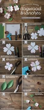 Paper Flower Branches Handmade Paper Dogwood Branch Paper Crafts Paper Flowers Paper
