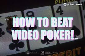 Free Video Poker Strategy Charts How To Beat Video Poker Machines The Ultimate Strategy