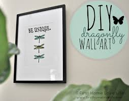 Dragonflies Wall Decor Diy Dragonfly Wall Art First Home Love Life