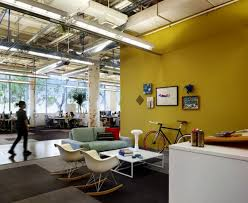 cool office ideas decorating. bright yellow wall is a perfect backdrop for this office via bs2h cool ideas decorating
