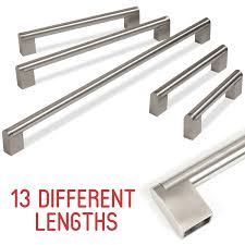 sentinel kitchen cupboard cabinet boss bar door handle brushed stainless steel 128 909mm
