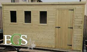 special pent style combination cottage garden shed pressure treated