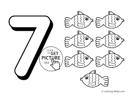 Small Picture 7 Numbers Coloring Pages For Kids Printable Free Digits diaetme