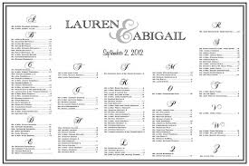 Poster Seating Charts For Wedding Receptions Wedding Seating Chart Table Assignments Reception Seating