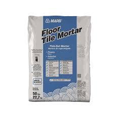 mapei floor tile 50 lb white powder thinset mortar