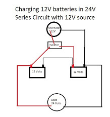 charging 24v battery with 12v alternator and isolator motor 24v 10a battery charger circuit diagram at 24 Volt Battery Charger Diagram