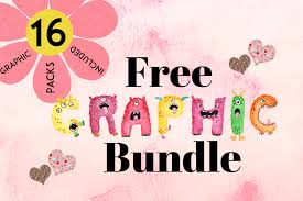 New weekly free cut files are released every friday! The Free Graphics Bundle Bundle Creative Fabrica
