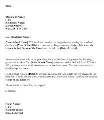 Sample Local Donation Request Letter Template Free Templates
