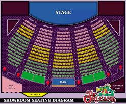 The Orleans Showroom Seating Chart 54 Factual Orleans Hotel Casino Showroom Seating Chart