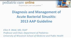 diagnosianagement of acute bacterial sinusitis 2016 aap guideline