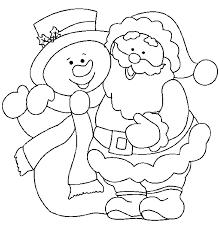Kerstmis Kleurplaat Sneeuwpop En Kerstman