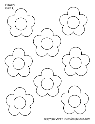 Printable flower coloring pages give you a really great opportunity to teach your child some knowledge about the world around them. Flowers Free Printable Templates Coloring Pages Firstpalette Com