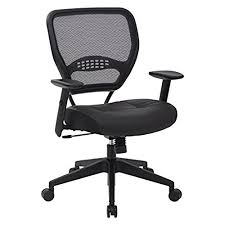 comfortable desk chair. AirGrid Dark Back And Padded Black Eco Leather Seat, 2-to-1 Synchro Tilt Control, Adjustable Arms Tension With Nylon Base Managers Chair Comfortable Desk