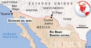 Resultado de imagen para muro de el paso en mexico y eeuu