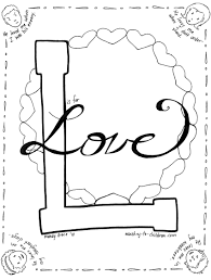 L Is For Love Coloring Page Memory Verses Pinterest Free
