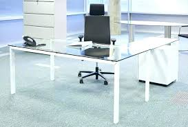 office glass desk home office glass desk glass office furniture glass desk with return contemporary glass