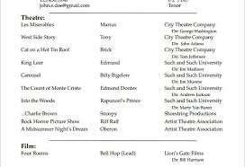 actor resume no experience acting resume no experience template for designs 8332