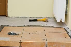 installing tiles on a concrete floor