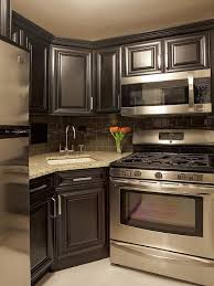 Small Picture Brilliant Art Small Kitchens With Dark Cabinets 13 Best Small