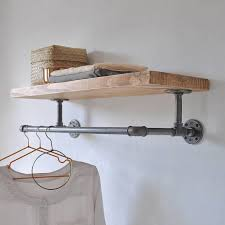 12 notch waterfall wall mounted sloped clothes rail