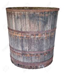 an old large oak barrel isolated on white background stock photo 50796337