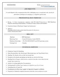 Mainframe Architect Sample Resume Sample Resume Mainframe