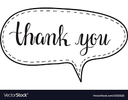 Word Thank You Thank You Hand Written Words Calligraphy In A Vector Image