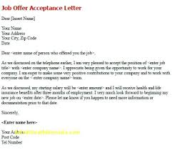 Acceptance Letter For Offer How To Write A Job Offer Acceptance Letter Beautiful Fer