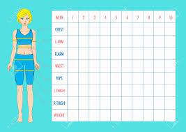Weight Measurement Chart Printable Printable Weight Loss Measurement Chart New Male Body